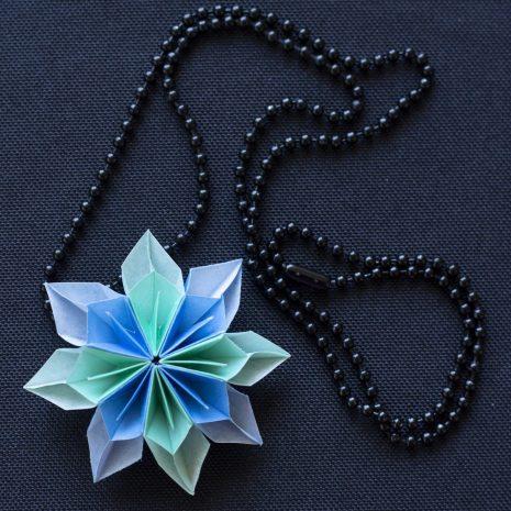 Mint-blue-kirigami-pinwheel-pendant-chain