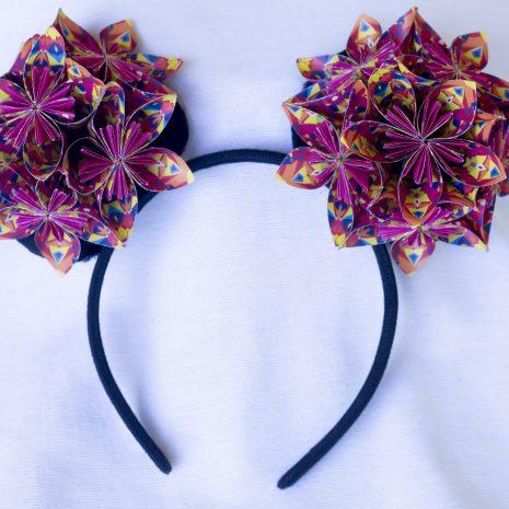 Pink-kaleidoscope-kusudama-mouse-ears-front