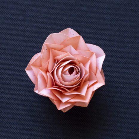 Pink-kirigami-rose-pendant-front