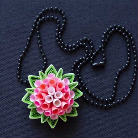 Quilled-flower-anemone-pendant-chain