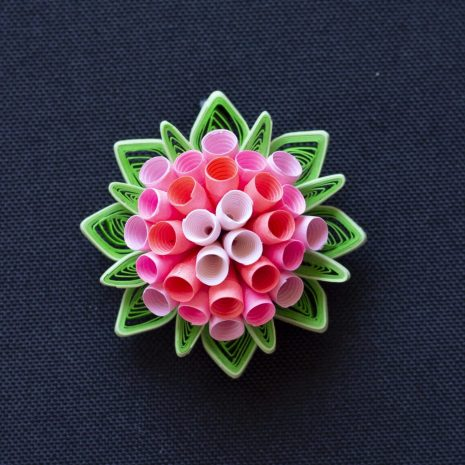 Quilled-flower-anemone-pendant-front