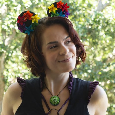 Rainbow-origami-mouse-ears-model