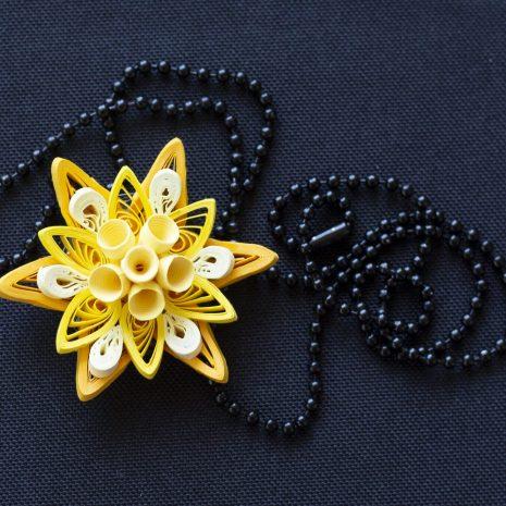 Yellow-quilled-mandala-pendant-chain