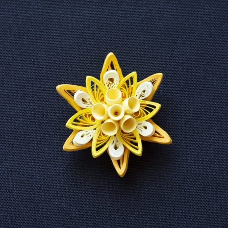 Yellow-quilled-mandala-pendant-front